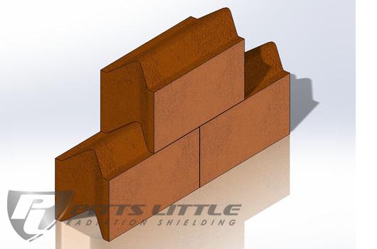 "4"" Thick Interlocking High Density Concrete Blocks"