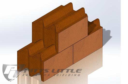 "6"" Thick Interlocking High Density Concrete Blocks"